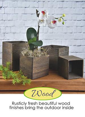 Wood Floral Pots | Giftwares Company Inc.